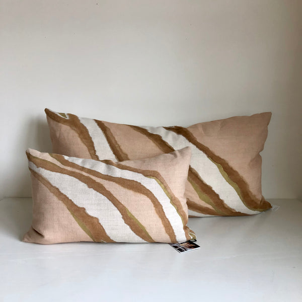 Sienna & Amber Double Fault with Metallic Gold Pillow Cover
