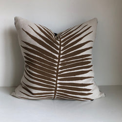 "Chestnut Palm 24x24"" Pillow Cover"