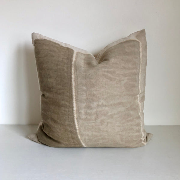 "Sand Vertical Block 22x22"" Pillow"