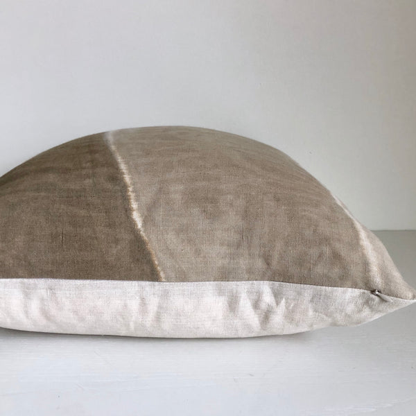 Sand Vertical Block Hemp Pillow
