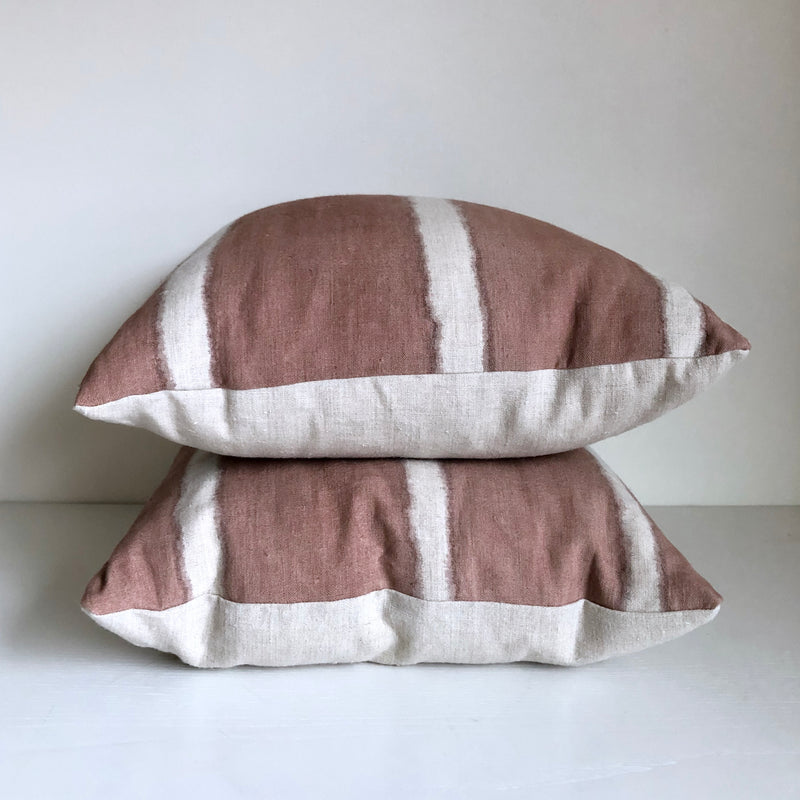 Madder Rose Stripe Reveal Pillow Cover