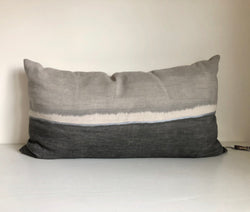 Cloud Grey Colorblock Lumbar Pillow Cover 20x36