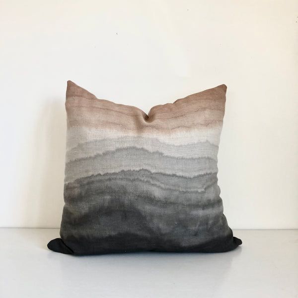 Clay & Coal Stratum Hemp Pillow