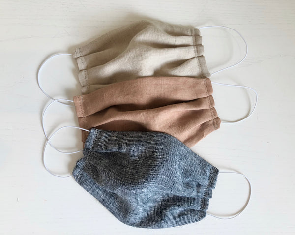 Hemp Face Mask with Elastic Loops