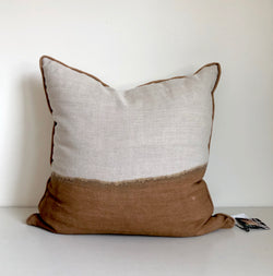 Amber Half Bleed Pillow with Piping