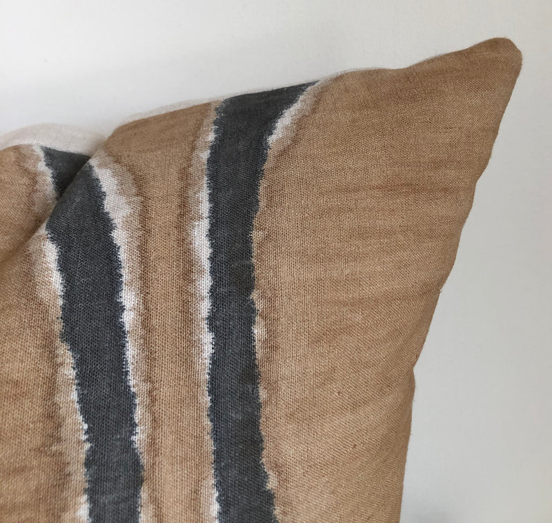 Amber & Charcoal Furrow Pillow