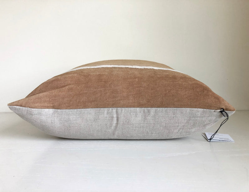 Camel Gradient Reveal Hemp Pillow