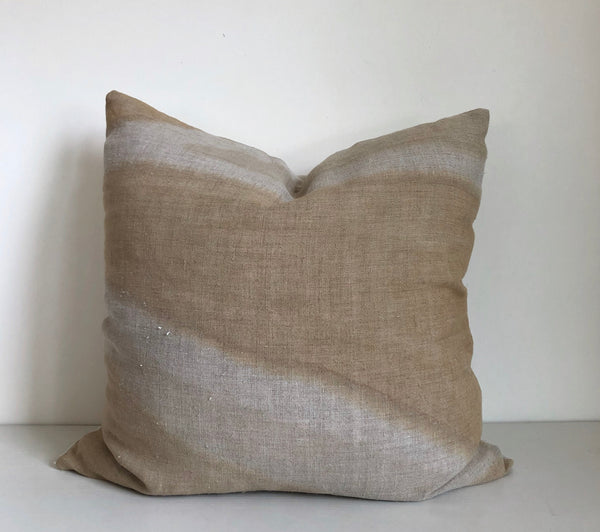 Amber Furrow Hemp Pillow
