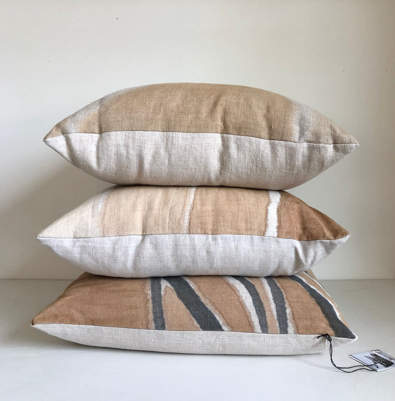 Amber Gradient Reveal Hemp Pillow