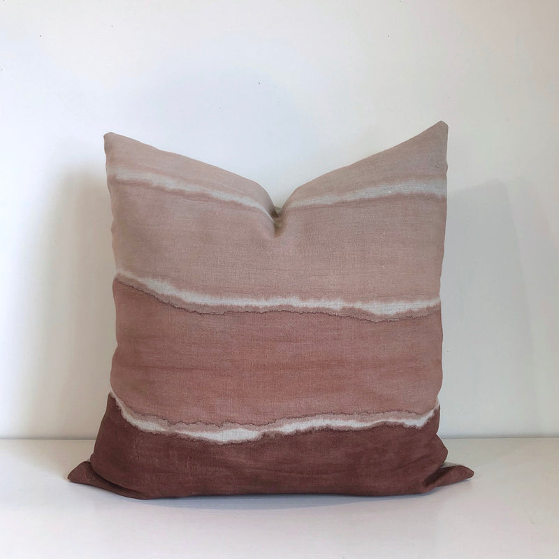 Madder Rose Wave Gradient Pillow