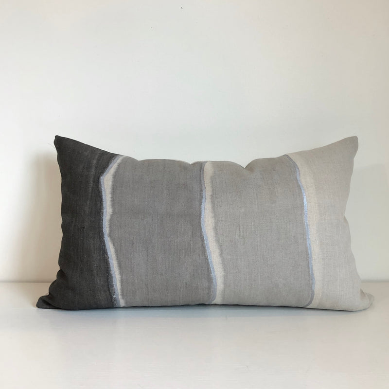Cloud Grey Gradient Lumbar with Metallic Silver