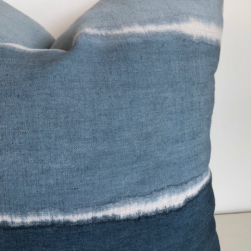 Ocean Blue Wave Gradient Pillow