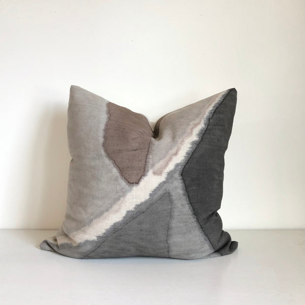 Charcoal & Mocha Fragment Pillow