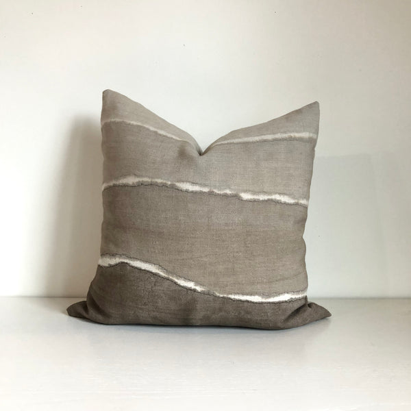 Mocha Gradient Hemp Pillow