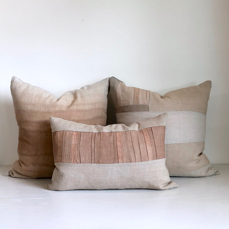 Sienna Remnants Hemp Lumbar Pillow no. 1