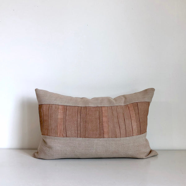 Camel Remnants Hemp Lumbar Pillow no. 1