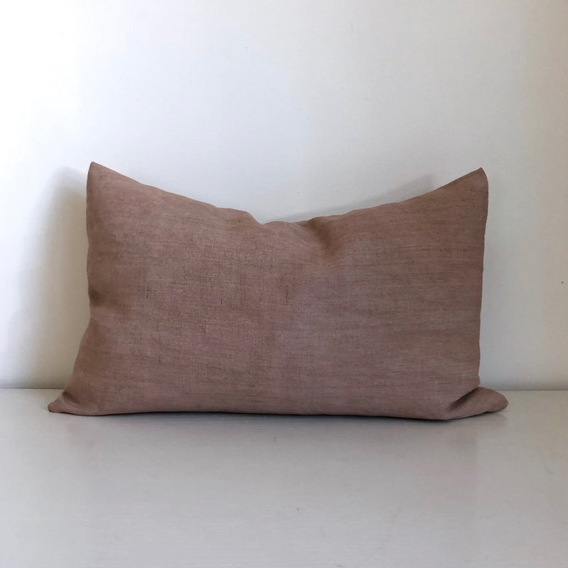 Rose Solid Wash Double-Sided Lumbar Pillow Cover