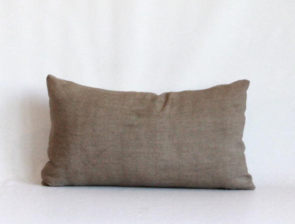 Mocha Solid Wash Pillow Cover