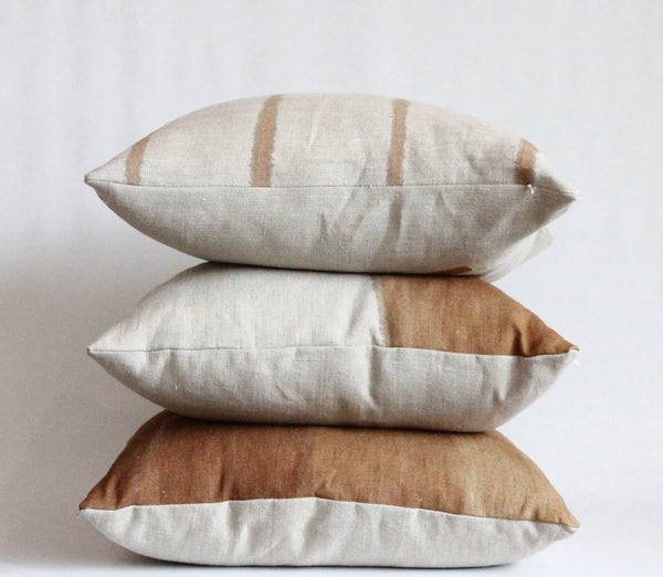 Amber Thin Striped Hemp Pillow