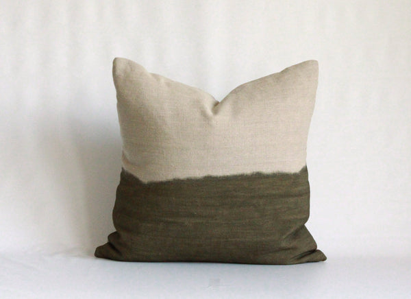 Olive Half Bleed Pillow Cover