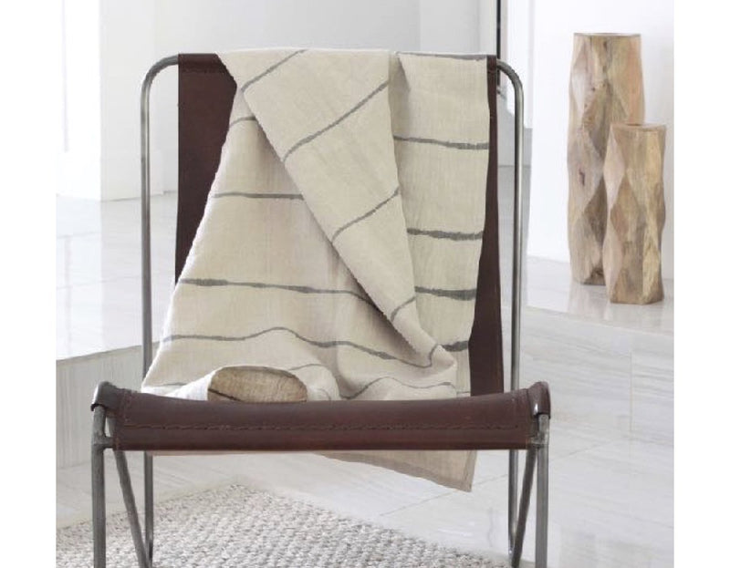Striped Organic Hemp Throw or Tablecloth