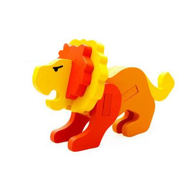 Educational Lion Shape 3D Wooden Puzzle