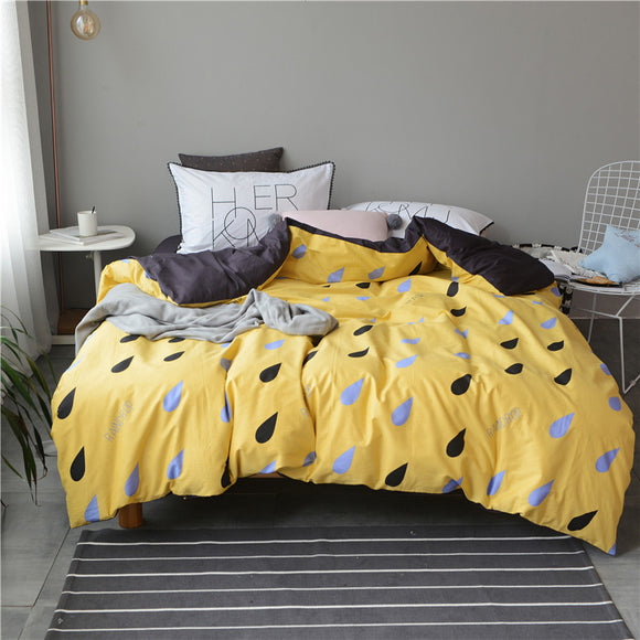 Yellow Queen And King Size Bedding Set