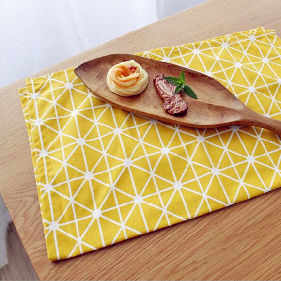 Yellow Colored Square Dinner Napkin