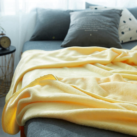 Yellow Multi-Sized Soft Blanket