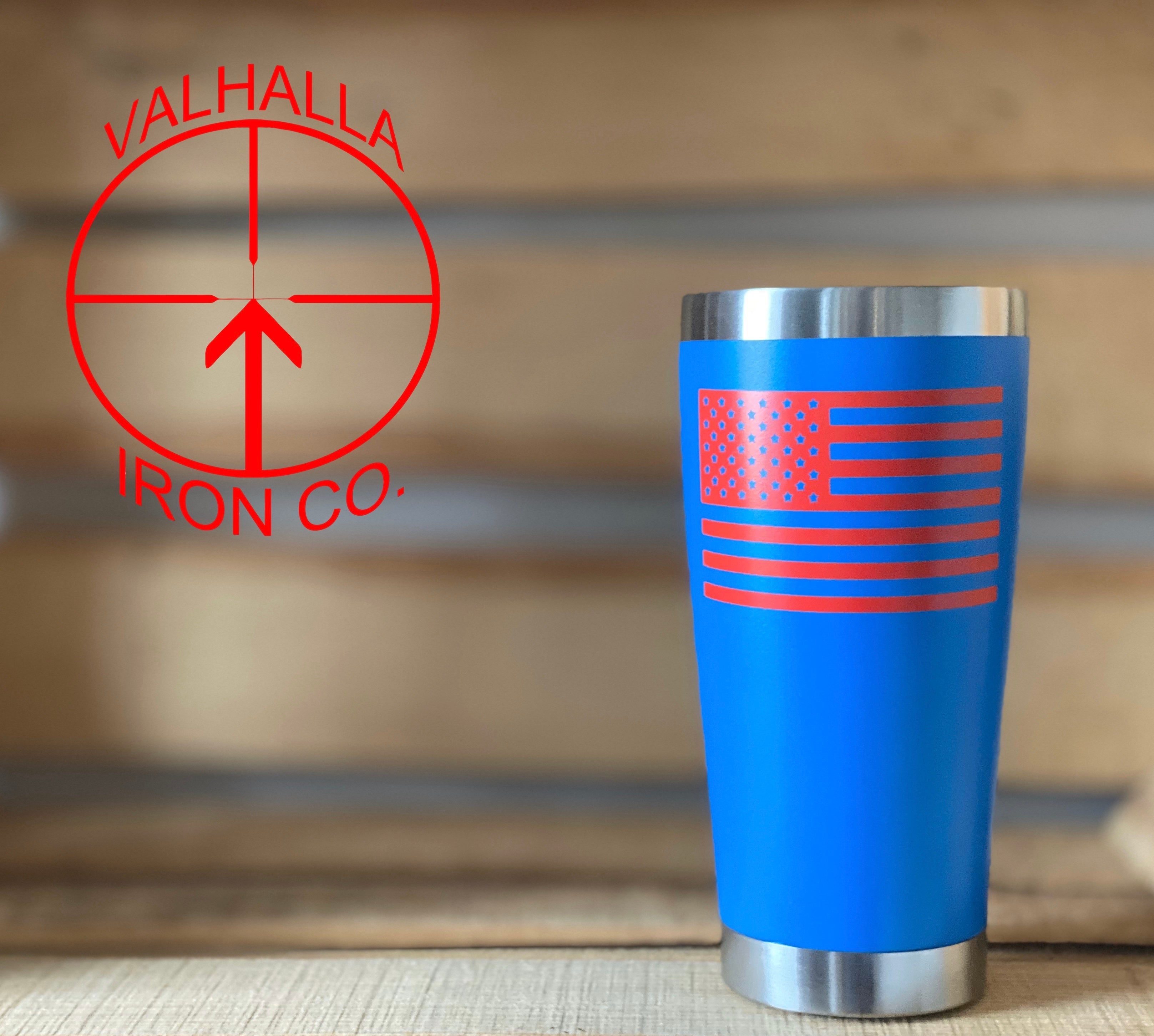 American Flag 20oz. Grizzly Cup