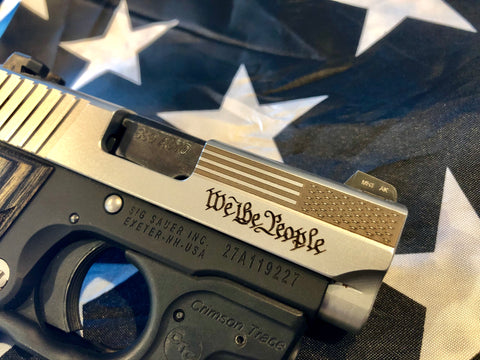 Sig P238 We the People and Flag Engraved Slide