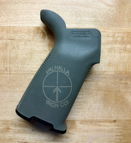 Engraved Magpul Grip