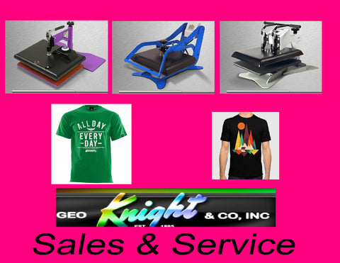 GEO KNIGHT QUALITY HEAT PRESS MACHINES