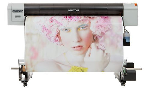 "USED MUTOH VJ-1324 54"" ECO SOLVENT PRINTER W/ TAKEUP UNIT"
