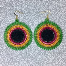 Four Color Caribbean Lace Earrings