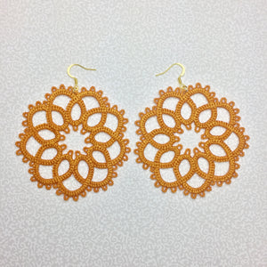 Tatting Lace Flower Earrings