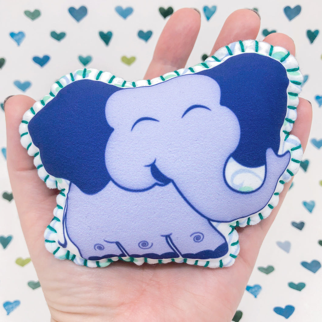 Whiffy the Elephant - Printed Pocket Hug Essential Oil Diffuser