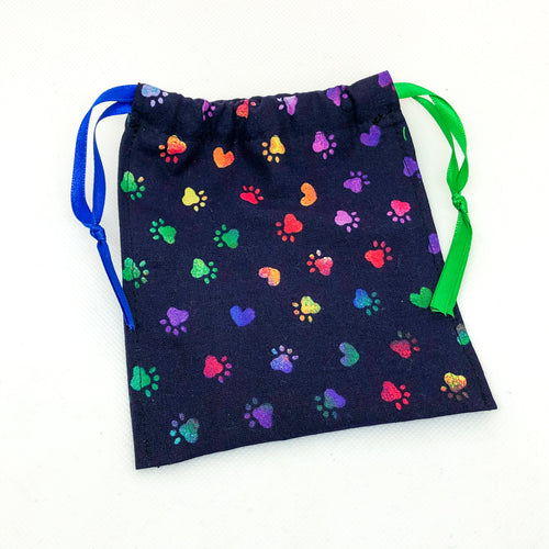 Pocket Hug Keepsake Bag - Rainbow Paws