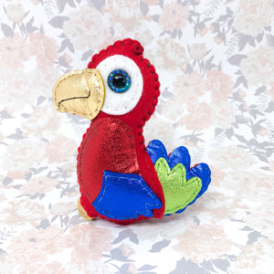 Collectable Pocket Hug - Paddle Parrot - Essential Oil Diffuser Plushie