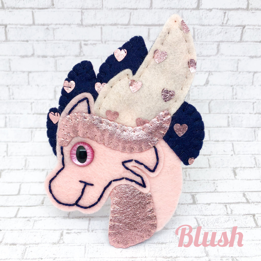 Collectable Pocket Hug - Blush Dragon Essential Oil Diffuser Plushie