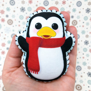 Bopper the Penguin - Printed Pocket Hug Essential Oil Diffuser