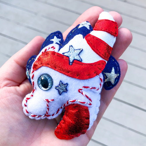 ULTRA RARE Pocket Hug Liberty Dragon - Essential Oil Diffuser Plushie