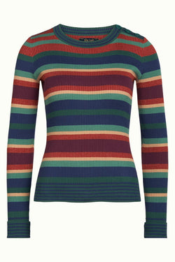 King Louie Roundneck Sweater Havana Stripe-King Louie-Sophies.dk