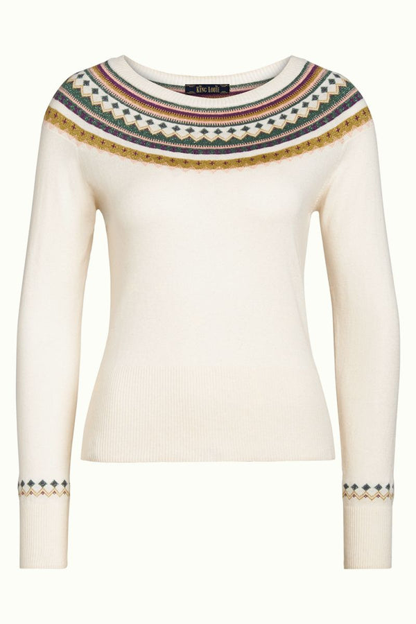King Louie Sweater Alpine - Ivory-King Louie-Sophies.dk