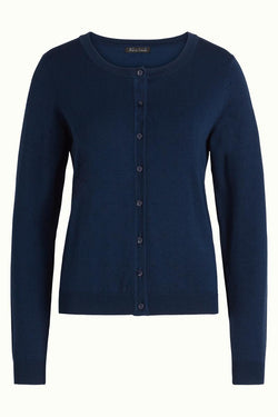 King Louie Cardigan Roundneck Droplet - Dark Navy-King Louie-Sophies.dk