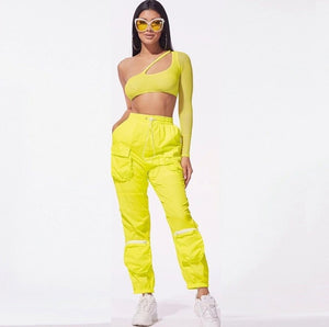 Rave Two Piece Set (pink&yellow&black) - MyLittleRave.com