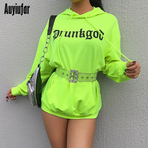Neon Long Sleeve Hooded Sweatshirt - MyLittleRave.com
