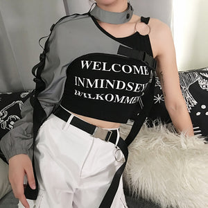 Reflective Crop Top - MyLittleRave.com