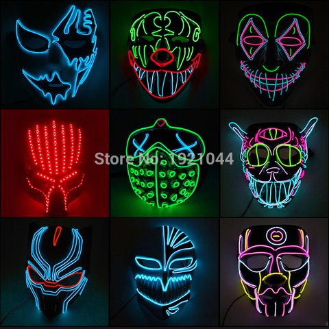 35 Styles Rave LED Masks #CreativeProps - MyLittleRave.com