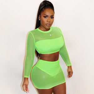 See Through Neon 3 Piece Set - MyLittleRave.com